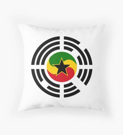 Korean Ghanaian Multinational Patriot Flag Series Throw Pillow