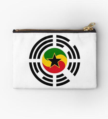 Korean Ghanaian Multinational Patriot Flag Series Zipper Pouch