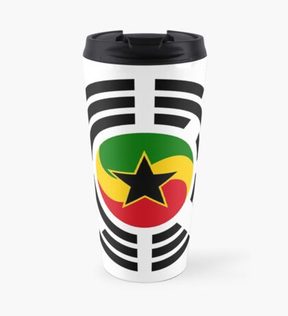Korean Ghanaian Multinational Patriot Flag Series Travel Mug