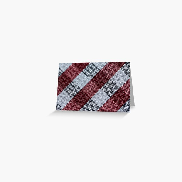Ornamental Pattern With Red Color Greeting Card