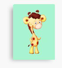 Cool Giraffe Canvas Print
