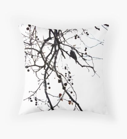 solitary twitter Throw Pillow