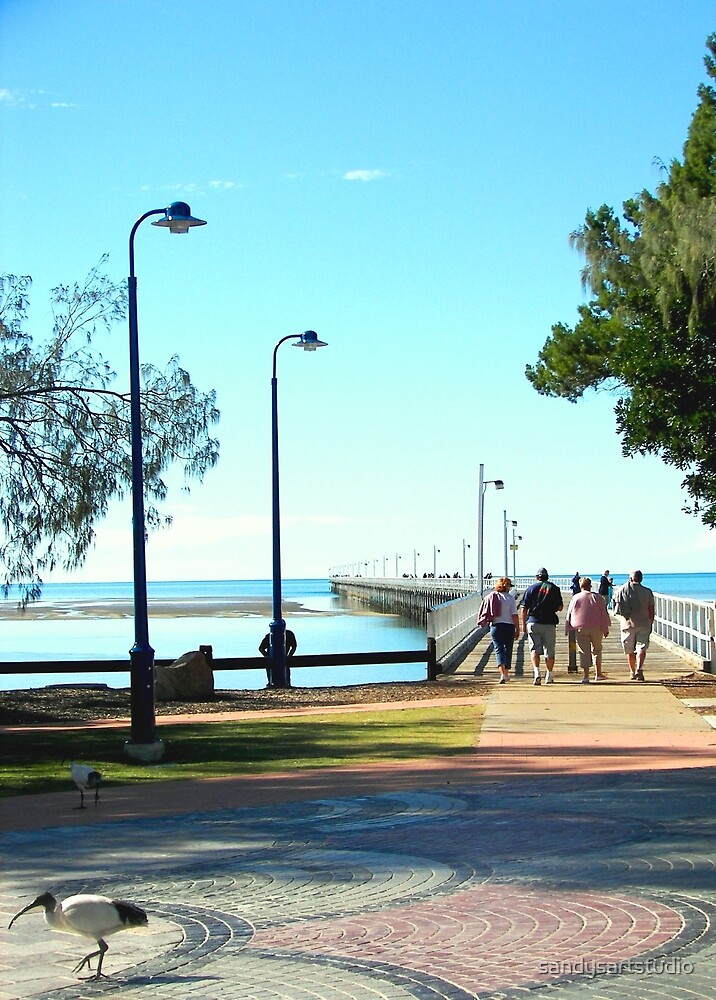 Urangan Jetty  Hervey Bay Australia by sandysartstudio