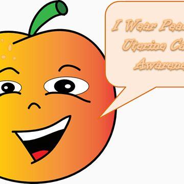 Uterine Cancer Awareness Peach by rosiesfight