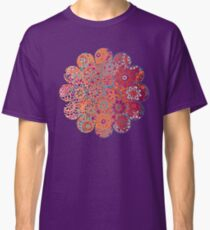 Psychedelic Ombre Flower Doodle Classic T-Shirt
