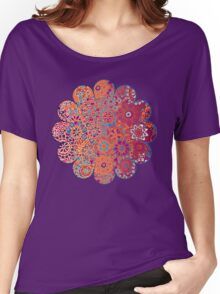 Psychedelic Ombre Flower Doodle Women's Relaxed Fit T-Shirt