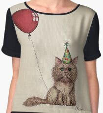 Kitty Celebration Women's Chiffon Top