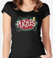 PUZZLES BAR - NO LAST CALLS! Women's Fitted Scoop T-Shirt