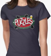 PUZZLES BAR - NO LAST CALLS! Womens Fitted T-Shirt
