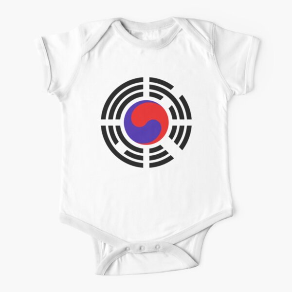 Korean Patriot Flag Series Short Sleeve Baby One-Piece