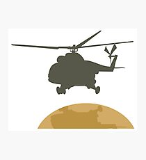 Helicopter flying design Photographic Print