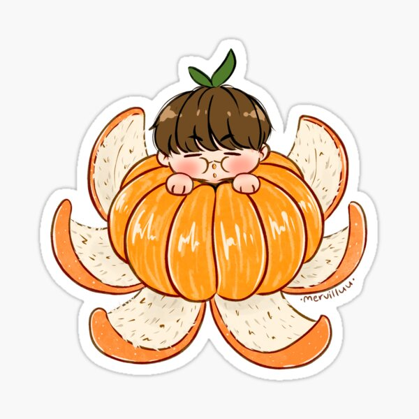 Tangerine Yoongi Sticker