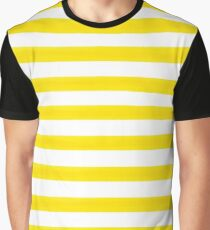 Yellow Striped Graphic T-Shirt