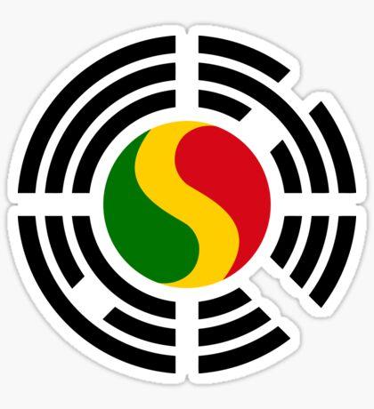 Korean Mali Multinational Patriot Flag Series Sticker