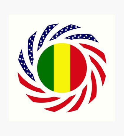 Mali American Multinational Patriot Flag Series Art Print