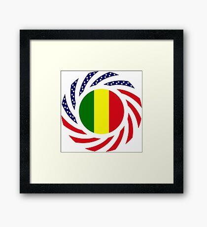 Mali American Multinational Patriot Flag Series Framed Print