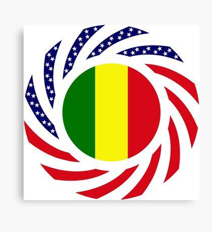 Mali American Multinational Patriot Flag Series Canvas Print