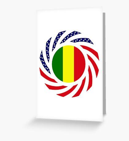 Mali American Multinational Patriot Flag Series Greeting Card