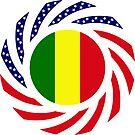 Mali American Multinational Patriot Flag Series by Carbon-Fibre Media