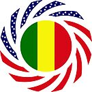 Mali American Multinational Patriot Flag Series by Carbon-Fibre Media