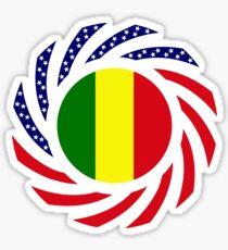 Mali American Multinational Patriot Flag Series Sticker
