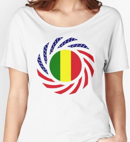Mali American Multinational Patriot Flag Series Relaxed Fit T-Shirt