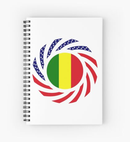 Mali American Multinational Patriot Flag Series Spiral Notebook