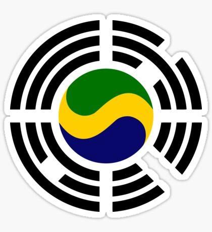 Korean Gabonese Multinational Patriot Flag Series Sticker