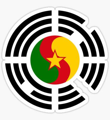 Korean Cameroonian Multinational Patriot Flag Series Sticker