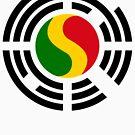 Korean Mali Multinational Patriot Flag Series by Carbon-Fibre Media