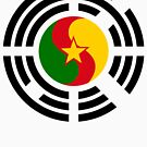 Korean Cameroonian Multinational Patriot Flag Series by Carbon-Fibre Media