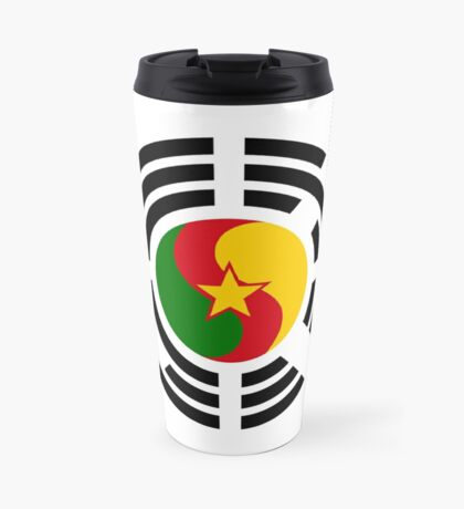Korean Cameroonian Multinational Patriot Flag Series Travel Mug