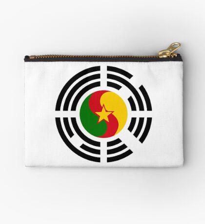 Korean Cameroonian Multinational Patriot Flag Series Zipper Pouch