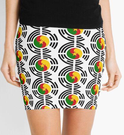 Korean Cameroonian Multinational Patriot Flag Series Mini Skirt