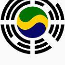 Korean Gabonese Multinational Patriot Flag Series by Carbon-Fibre Media