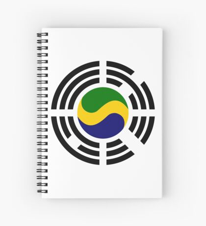 Korean Gabonese Multinational Patriot Flag Series Spiral Notebook