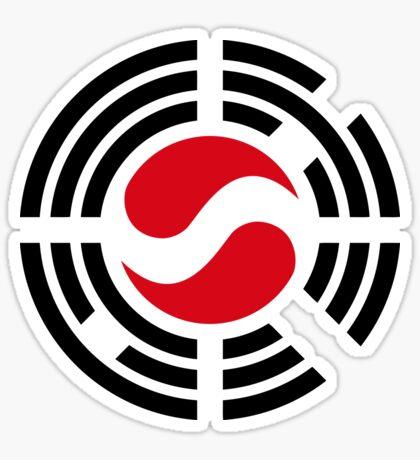 Korean Austrian Multinational Patriot Flag Series Sticker