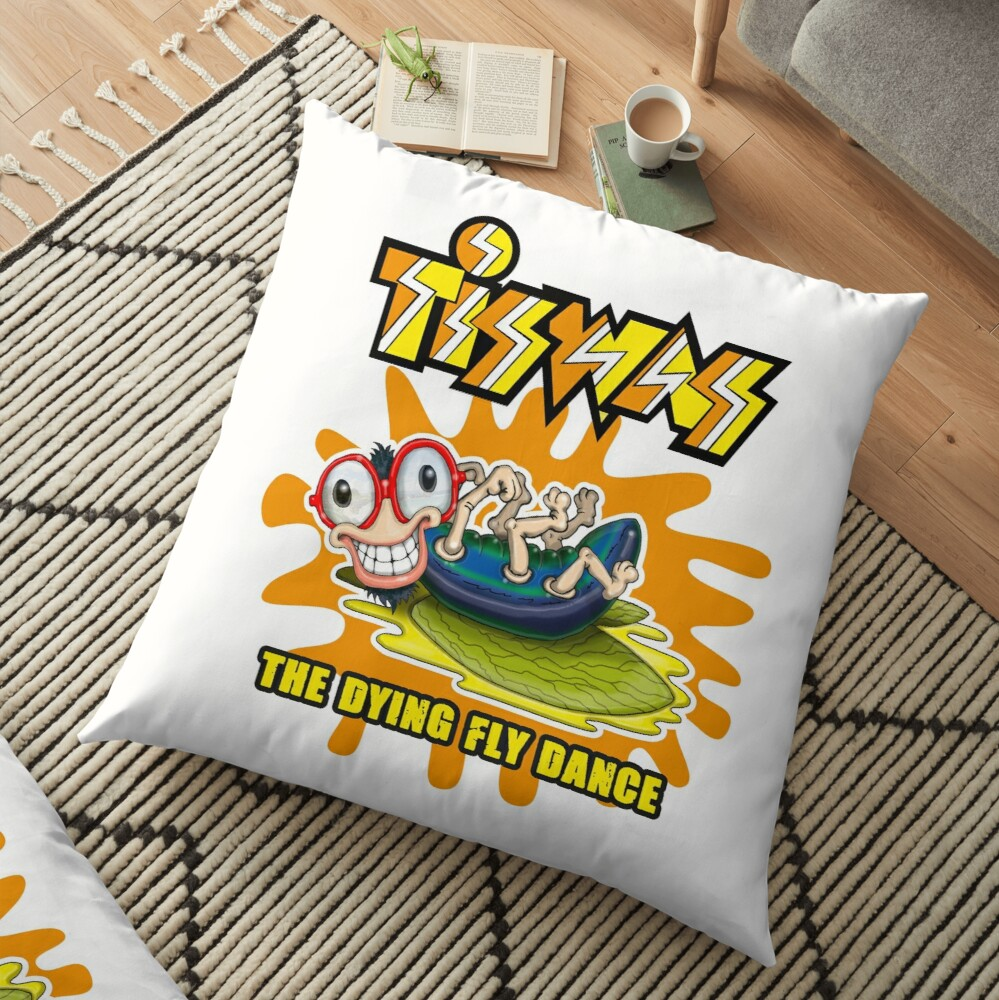 Tiswas Dying Fly Floor Pillow