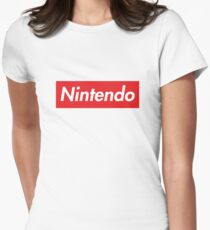 "Nintendo ""sup"" style Women's Fitted T-Shirt"