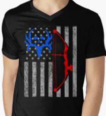 american bow hunting USA flag T-Shirt
