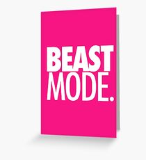 BEAST MODE. - ELECTRIC PINK Greeting Card