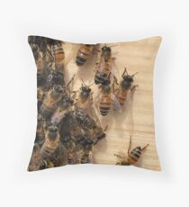 Bees and their Hive Throw Pillow