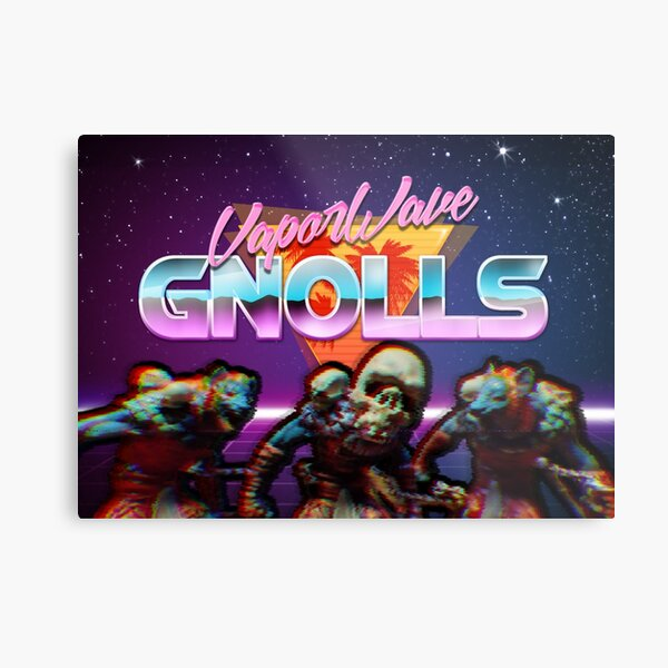VaporWave Gnolls Group Metal Print