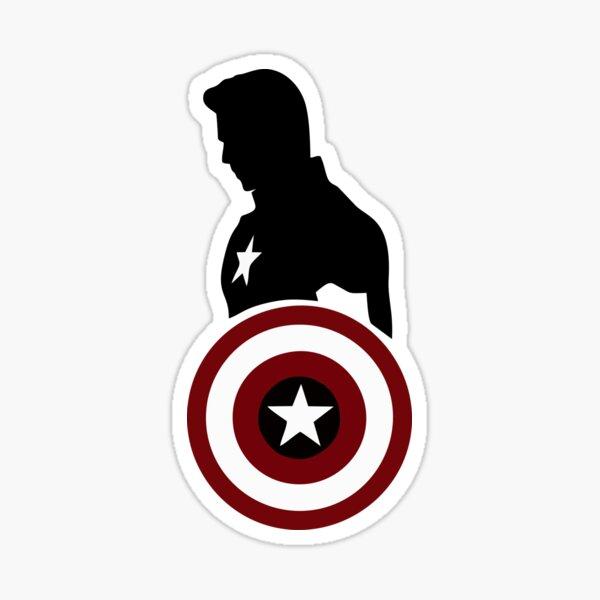 Cap America Sticker