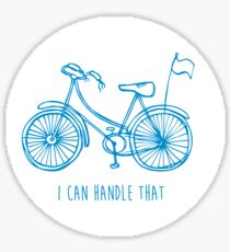 Hipster bicycle - blue Sticker
