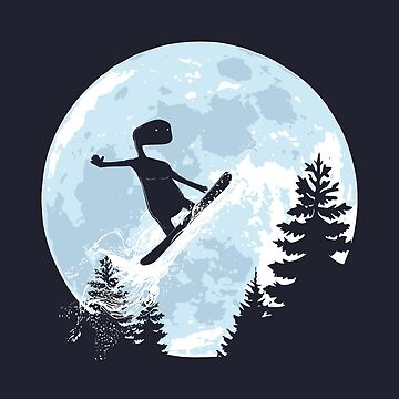 ET, E.T., moon, freeride, snowboard, E.T. the Extra-Terrestrial by KokoBlacsquare