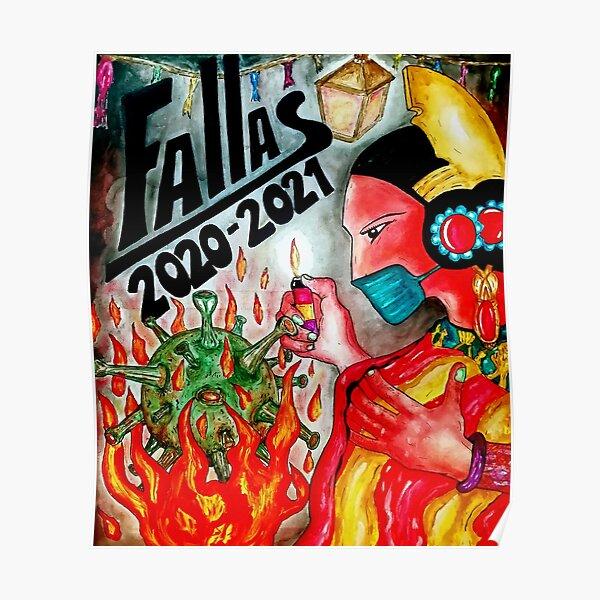 """TXUS BIXQUERT: """"Covid-19 War - Fallas 2020-2021"""" Poster"""