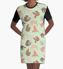 Sloth-mania Graphic T-Shirt Dress