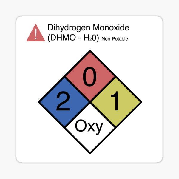 H20 Warning Sticker