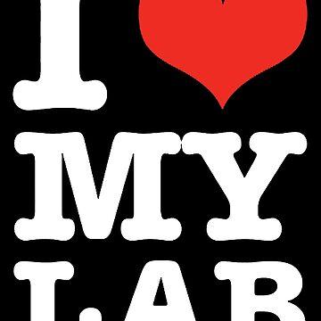 I Love My Lab (black) by Giii